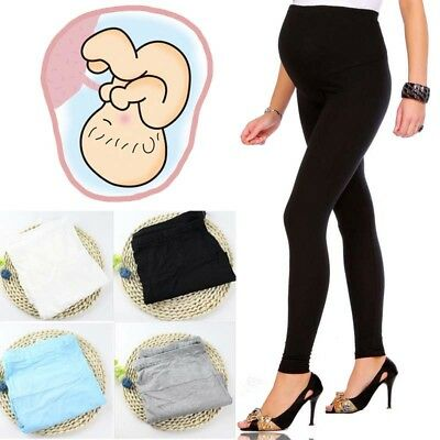Thick Comfortable Maternity Leggings Full Ankle Cotton Trousers Pregnancy Pants