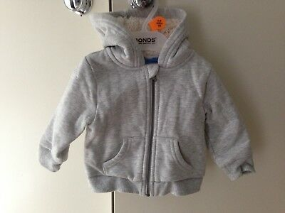 Boys Target winter jacket Coat Sherpa Grey Hoodie Warm Thick Zip size 00 Baby