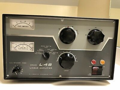 RL Drake Model L-4B HF Ham Linear Amplifier with L-4PS Supply