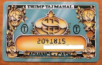 Trump (Donald) Taj Mahal Vintage Casino Card with an Assigned Name and Number