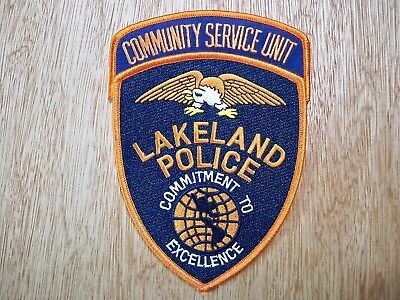 Florida - Lakeland Police Patch CURRENT ISSUE COMMUNITY SERVICE UNIT SET OF 2