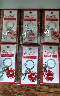 Lot Of 6 Coca-Cola Coke Keychain Charm Pendant. New In Packages