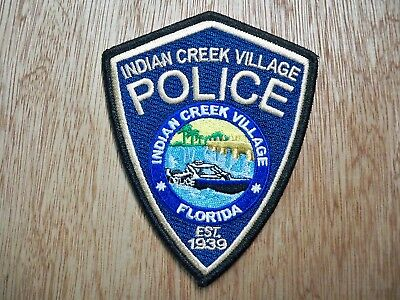 Florida - Indian Creek Village Police Patch CURRENT ISSUE WITH EA DECAL