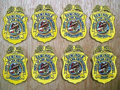 Florida - Seminole Police Patch PREVIOUS ISSUE FULL RANK SET OF 8