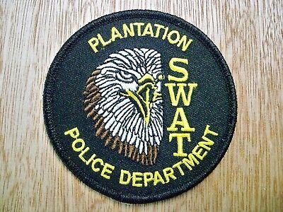 Florida - Plantation Police Patch CURRENT ISSUE LARGE
