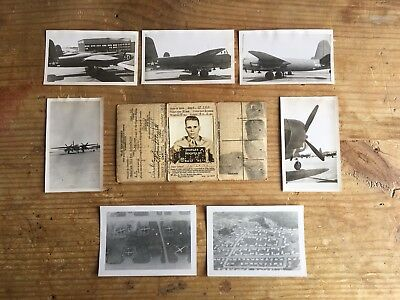 WWII USAAF ~ Officers Military Issued ID Card & Photo Lot ~ Air Corps