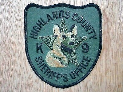 Florida - Highlands Sheriff Police Patch CURRENT ISSUE K-9 UNIT MALINOIS