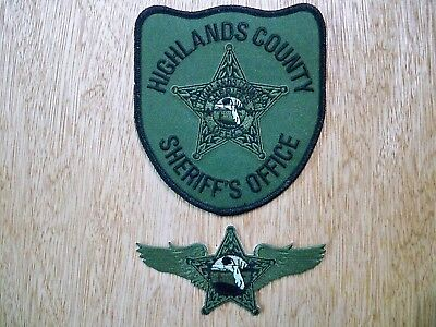 Florida - Highlands Sheriff Police Patch CURRENT ISSUE AVIATION UNIT SUBDUED