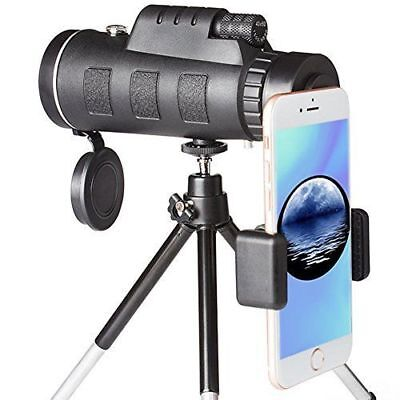 High Power Monocular Telescope Scope BAK4 Prism FMC for Adults Bird Watching Hun