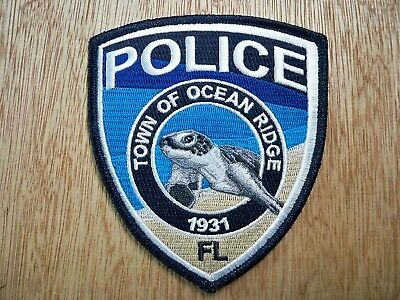 Florida - Ocean Ridge Police Patch CURRENT ISSUE WITH PMT DECAL