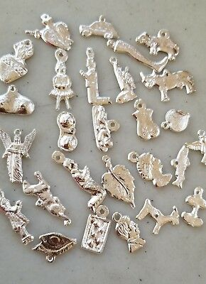 25 All Different silver Color Milagros day of the dead ex votos NEW