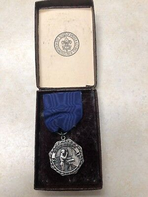 Boy Scout Silver Handicraft Contest Medal in Box