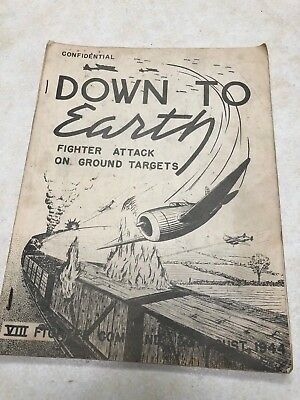 WW2 1944 Down to Earth 8th Fighter Command Confidential Manual