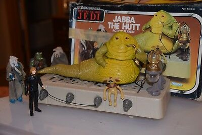 VINTAGE! KENNER STAR WARS RETURN OF THE JEDI JABBA THE HUT PLAYSET with Box