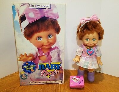Galoob Baby Face Doll So Shy Sherri With Box Excellent Condition Complete