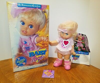 Galoob Baby Face Doll So Innocent Cynthia With Box Excellent Condition Complete