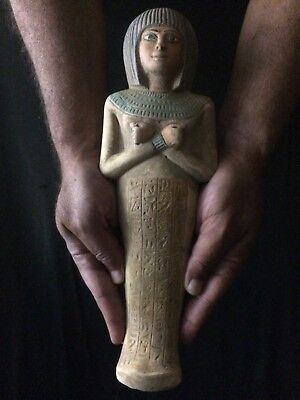 EGYPTIAN ANTIQUE EGYPT USHABTI Statue Stone SHABTI QUEEN Ashotep 1560–1530 BC