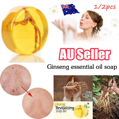 Ginseng Revitalizing Soap Bar Psoriasis Anti Fungus Bath Whitening Soap Hot AU