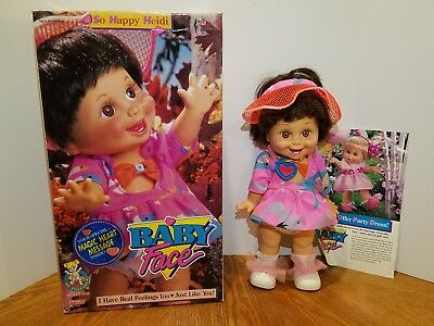 Galoob Baby Face Doll So Happy Heidi With Box Excellent Condition Complete