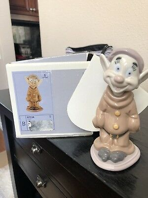 Lladro Dopey Disney Snow White & The Seven  Dwarfs 07534 Figurine -retired