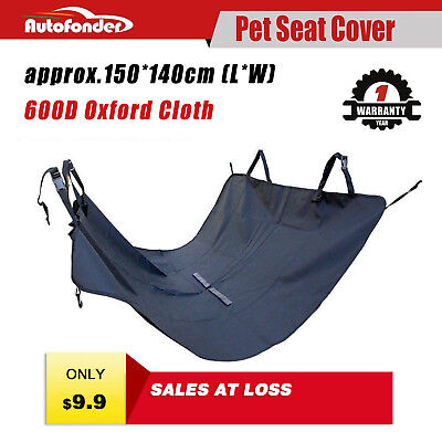 Autofonder Pet Seat Cover For Dog Cat 600D Oxford Waterproof