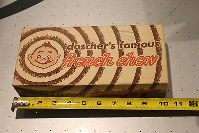 Antique Old Vintage French Chew Candy Bar Box Advertising Store