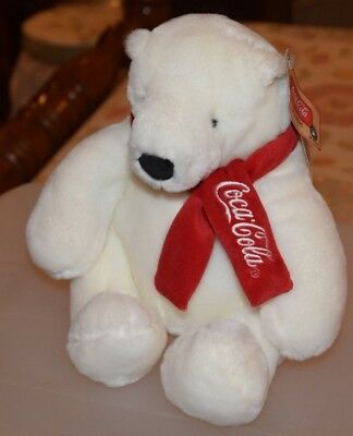 "Coca-Cola Coke Plush Polar Bear Boyd's Collection New w/ Tags 9"" Tall"