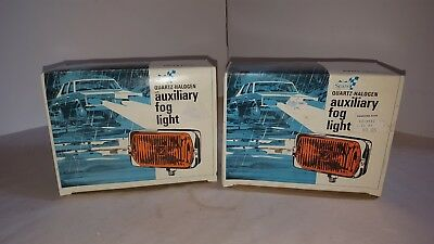 Vintage Sears Amber Fog Lights Quartz Halogen 12V Nib New In Box