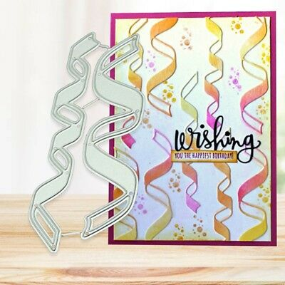 Ribbons Metal Cutting Dies Stencil For Scrapbooking Embossing Card Craft DIY
