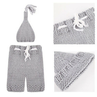 Soft Knitting 1 Set Hat Pants Photography Props For Newborn Clothing Handmade