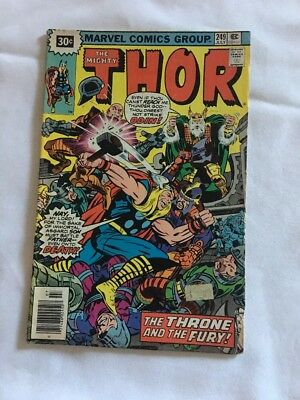The Mighty Thor #249 The Throne And The Fury  Marvel 1976