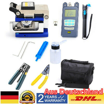 FTTH  FC-6 Splicing Splice Glasfaser Stripping Tool Kit Set mit Faser Cleaver DE