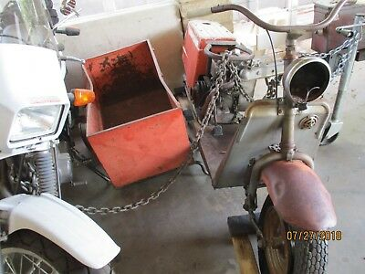 CUSHMAN SCOOTER & SIDE CAR 8h.p. PROJECT OR PARTS EAGLE MOTOR