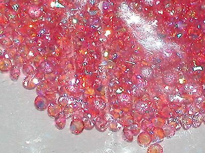 30pc Floating tiny little Rainbow Crystal rhinestone gem for bottle 3mm AB PINK