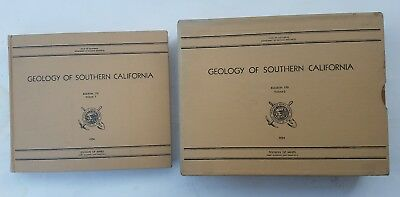 Geology of Southern California: Bulletin 170 Vols 1&2 ALL MAPS as issued 1954-59