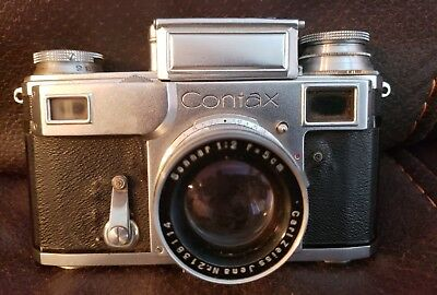 CONTAX Ikon Camera Carl Zeiss Jena Sonnar 1:2 Germany **untested**