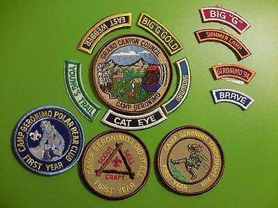 Lot of 13 Vintage 1990's Boy Scout Iron-On Patches Camp Geronimo Collectible