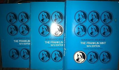 Franklin Mint 1972 Edition 1973 Edition 1974 Edition Goid Condition