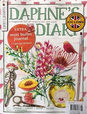 DAPHNE'S DIARY 2018 - Number 6 With Mini Bullet Journal - New