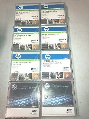 5 x HP LTO4 ULTRIUM 1.6TB DATA TAPE CARTRIDGE (C7974A) ++ 3 CLEANING CARTRIDGES