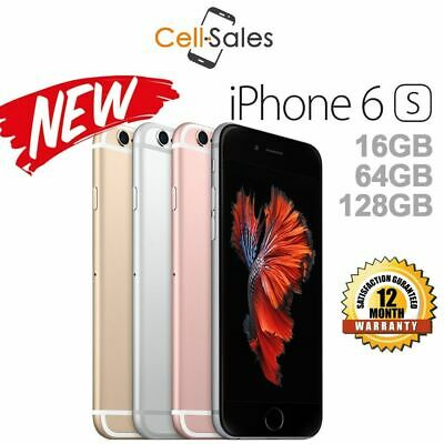 NEW Apple iPhone 6s Grey Silver Gold 16GB 64GB 100% 4G Unlocked Smartphone NSW