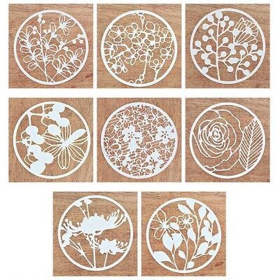 8Pcs/Set Cutting Dies Stencil Frame for DIY Scrapbooking Album Paper Card Craft