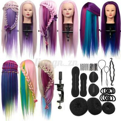 AU 27'' Hair Training Head Practice Hairdressing Mannequin Model + Braid Tool