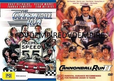 The Cannonball Run part 1&2 II DVD set New and Sealed Australia