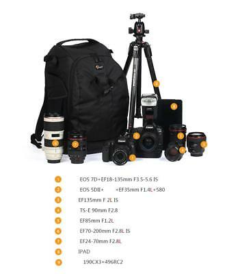 """New Lowepro Flipside 500 AW Backpack Case for DSLR Camera with Grip,10"""" Tablet"""