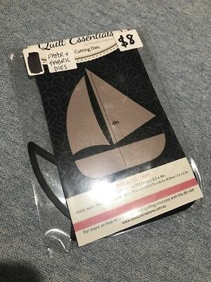 Quilt Essentials by Couture Creations - Appliqué Die Cut - Sail Boat - Brand New