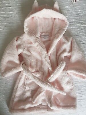 The Little White Company Dressig Gown Girls Age 6-12 Months