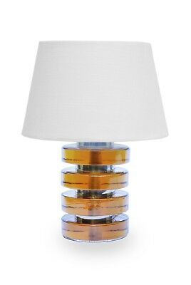 Midcentury table lamp Tischleuchte, Orrefors, Carl Fagerlund, 1960s