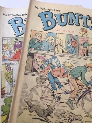 10 Issues Vintage Bunty Girls Comics 1980's Editions