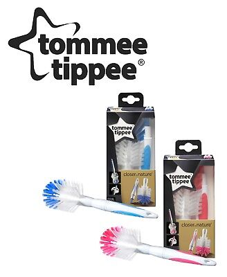 Tommee Tippee Baby Newborn Bottle Valve and Teat Brush Cleaning